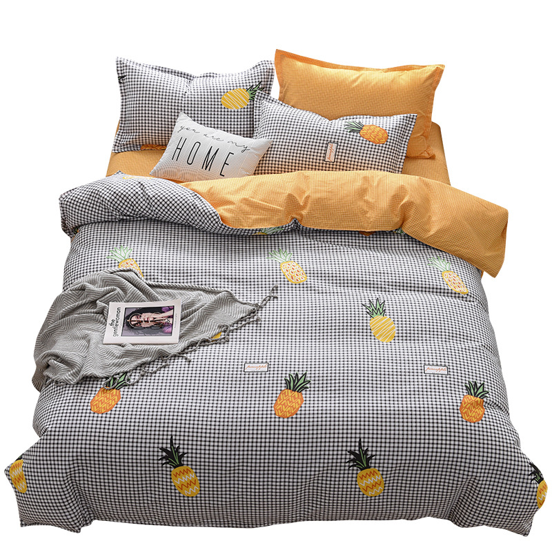 Plant Cashmere Wool Four-piece Set 100-2019 New Style Autumn And Winter Thick Brushed Bedding Article Warm Four-piece Set