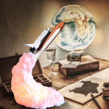 3D Print Space Shuttle Lamp Rechargeable Night Light For Space Lovers Moon Lamp As Room Decoration H
