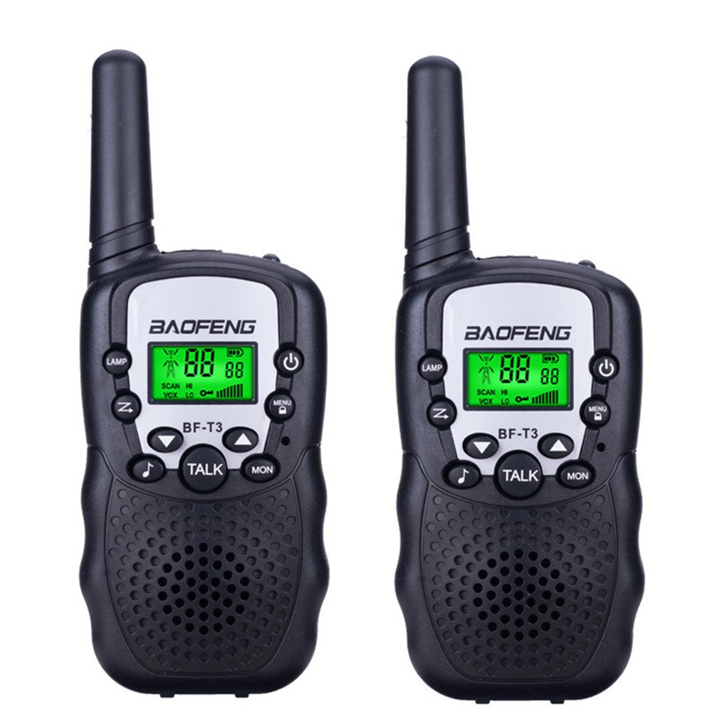 2PCS Mini Children'S Walkie Talkie 1KM Range Handheld Walkie Talkie 2 Way Radios With Flashlight And LCD Screen Interphone Gift