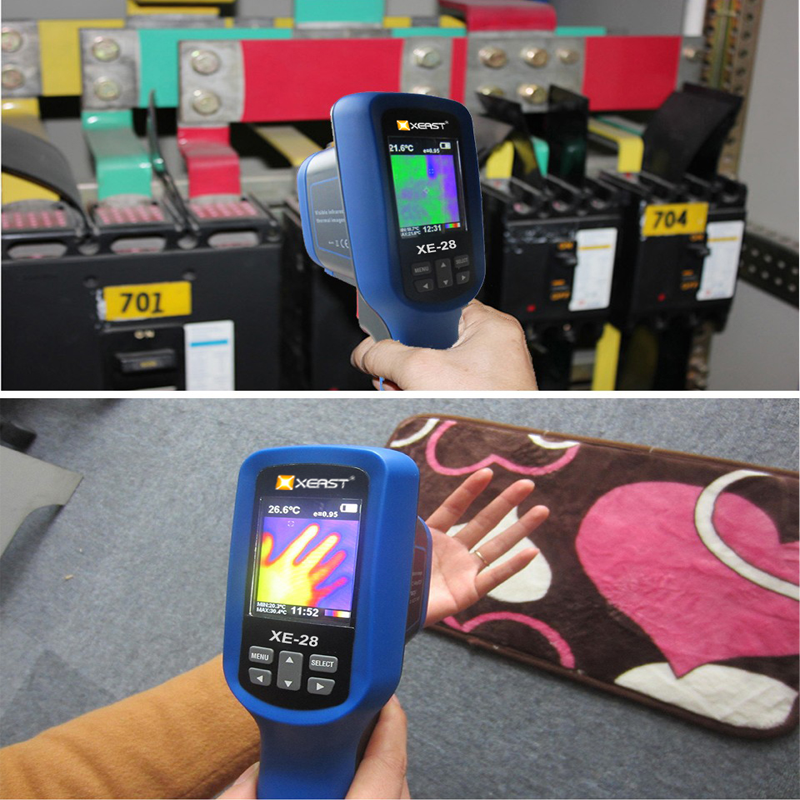 Xeast XE-28 2019 neue kühlen super clear farbe 2,5 inch LCD display handheld thermische imager infrarot thermometer und XE-31(160*120)