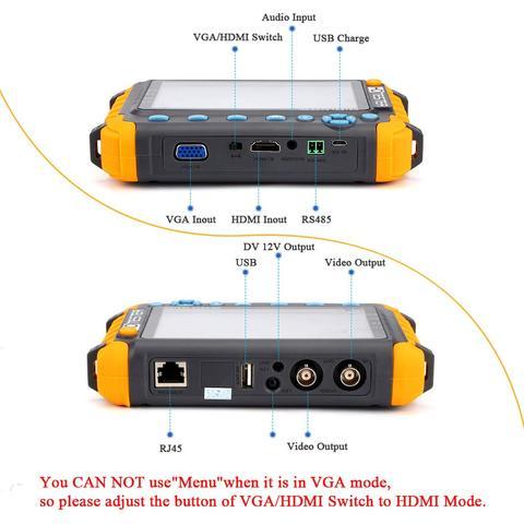 ahd cvbs testador kamery hdmi vga r485 video tester