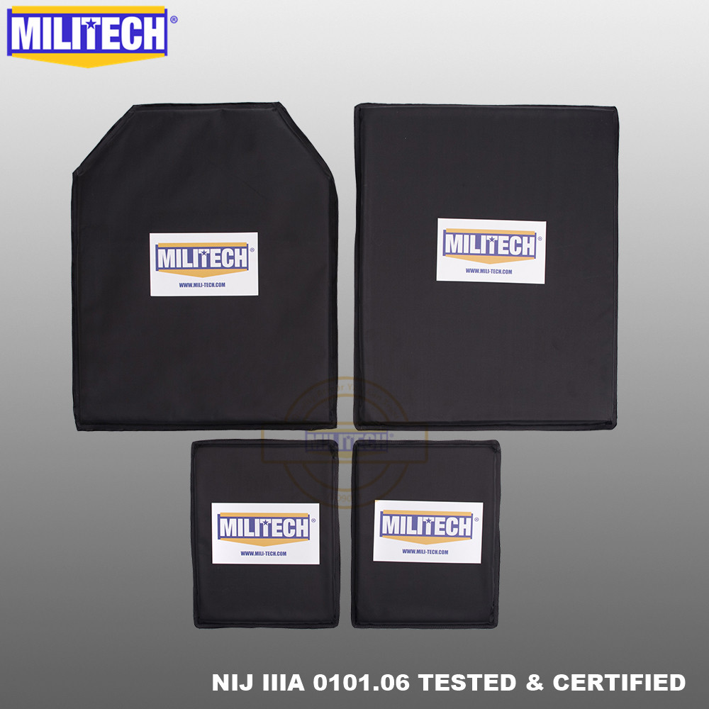MILITECH Aramid Ballistic Panel BulletProof Plate Inserts Body Armor Soft Armour NIJ IIIA 3A 11 X 14 STC&SC And 6 X 8 Two Pairs