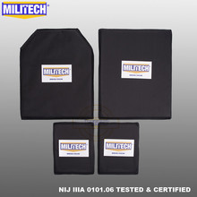 MILITECH Aramid Ballistic Panel BulletProof Plate Inserts Body Armor Soft Armour NIJ IIIA 3A 11 x 14 STC&SC And 6 x 8 Two Pairs