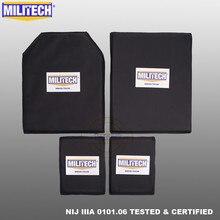MILITECH Aramid balistik paneli kurşun geçirmez plaka ekler vücut zırhı yumuşak zırh NIJ IIIA 3A 11x14 STC ve SC ve 6x8 iki çift