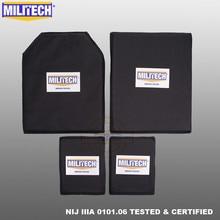 Painel balístico de aramida militech inserções de placa à prova de balas armadura macia nij iiia 3a 11x14 stc & sc e 6x8 dois pares