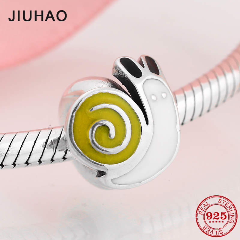 Spring Snails 925 Sterling Silver Spacer Stopper Beads Fit Original Pandora Charms Bracelet Women Accessories Jewelry