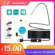 3.9 Mm 3 Trong 1 Android Camera Nội Soi IP67 Chống Nước Loài Rắn Với 6 Đèn LED Đèn Samsung Huawei , LG ,Xiaomi Máy Tính