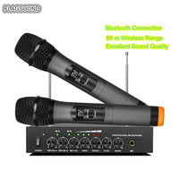 Flagsound S 16 UHF Wireless Microphone Metal Dynamic Mikrofon home theater system computer loudspeaker Smart TV Extra Wired Mic