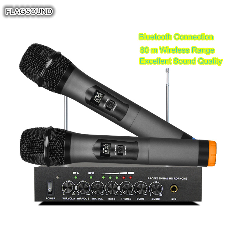 UHF Wireless Microphone With Metal Dynamic Microphone S-16 For Home Theater System Computer Loudspeaker Smart TV Extra Wired MI