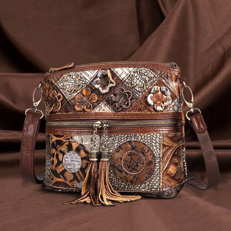 Cobbler Legend Genuine Leather Crossbody Bag Women 2020 New Luxury Designer Handbag Ladies Vintage Tassel Simple Top Handle Bags| | - AliExpress
