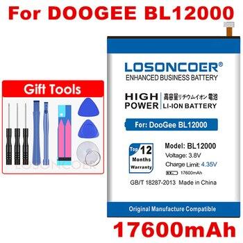 LOSONCOER 17600mAh BL12000 bateria do DOOGEE BL12000 BL12000 Pro bateria MTK6763T bateria telefonu komórkowego w magazynie