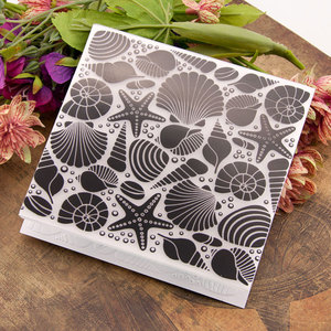 PLASTIC EMBOSSING FOLDER conch shell snails DIY scrapbook album card gift packing decoration cutting dies paper craft