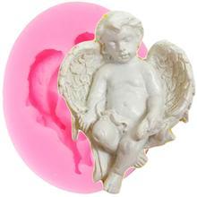 3D Ангел Детские Силиконовые Формочки DIY конфеты набор для выпечки с шоколадом форма помадка для кекса инструменты для украшения торта Смола Глиняное мыло формы
