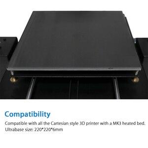 Image 5 - 220x220 12V ogrzewanie Ultrabase 3D drukarki platforma powierzchnia do zabudowy płyta szklana dla anycubic i3 mega MK2 MK3 3d drukarki hotbed części