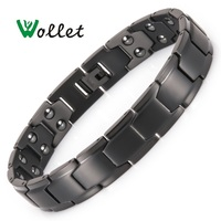 Wollet Jewelry 99.999% Germanium Hematite Pure Titanium Magnetic Bracelet for Men Women Fashion Health Care Healing Energy