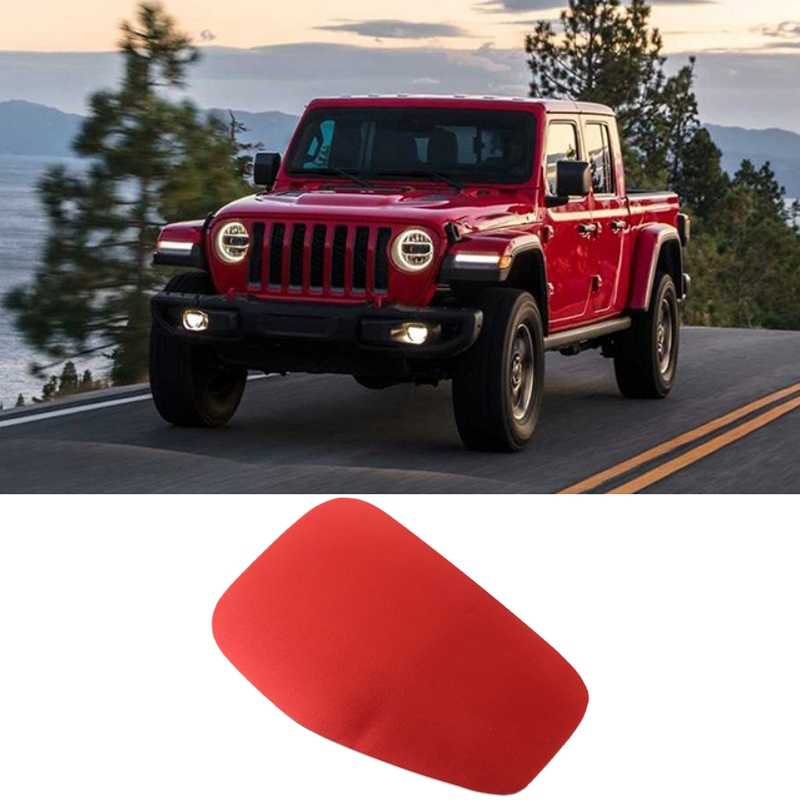 Gas Cap Cover Trim Fuel Door Decor Sticker Decal for 2020 Jeep Gladiator JT