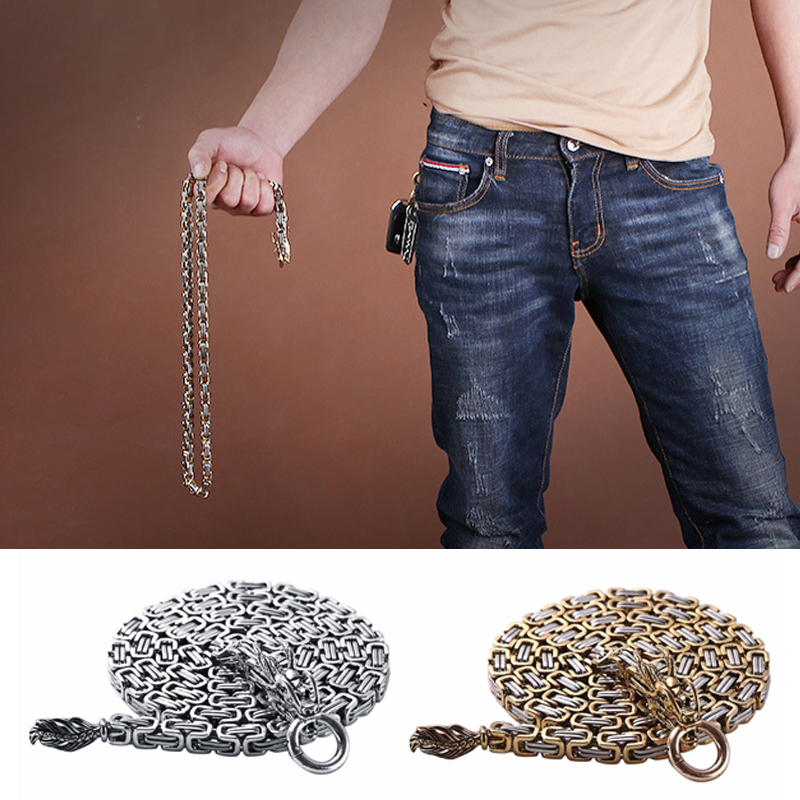 Gold Dragon 101cm Self Defense Dragon Waist Hand Bracelet Outdoor Stainless Steel Tactical Whip Corrosion Resistance Protection