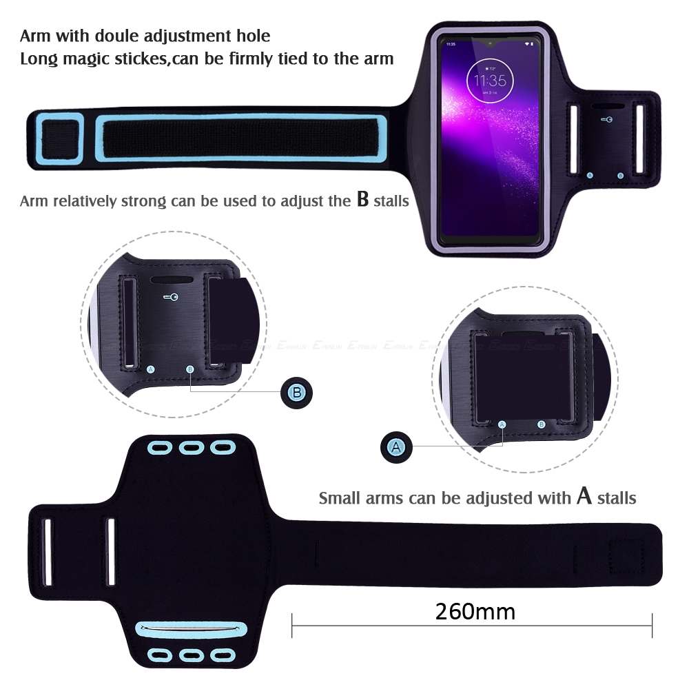 Sport Running Cycling Gym Cover Phone Bag For Motorola Moto One vision Action Power Zoom Macro Hyper P50 P30 Play Arm Band Case | Happy Baby Mama