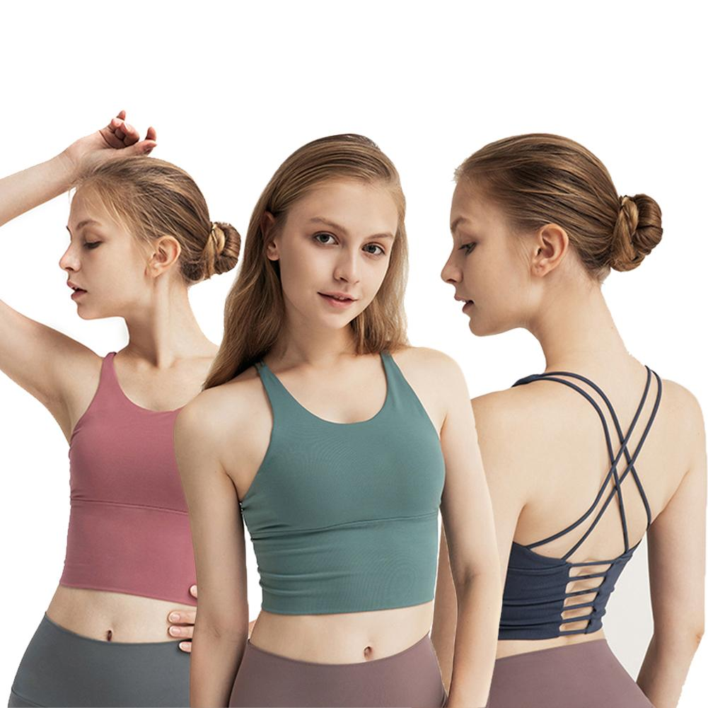 Women Sports Yoga Clothes Sportswear Vest Sports Bra Padded Workout Yoga Clothes For Running Fitness Athletic Gym Tops