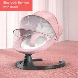 Детское Электрическое Кресло-Качалка с Bluetooth дистанционным артефактом для новорожденных, детская спальная корзина с музыкой, детское кресл...