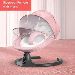 Baby Electric Rocking Chair Bluetooth Remote Artifact Newborn Baby Sleeping Basket with music Kids Swing cardle 0-36month