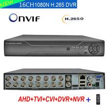 16 Channel Video Recorder 16CH 1080N DVR NVR H.265+ Dahua panel Hybrid 6 in 1 for TVI CVI CVBS AHD 1080P Camera and 5.0MP IP Cam