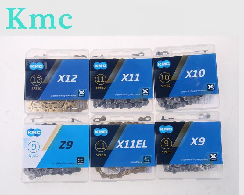 KMC Chain X8 X9 X10 X11 X12 HV408 Z8.3 X8PL Z9 X9L X11EL Bicycle Chain 116L/118L/126Links MTB/Road Bike Chain Boxed Bicycle Part