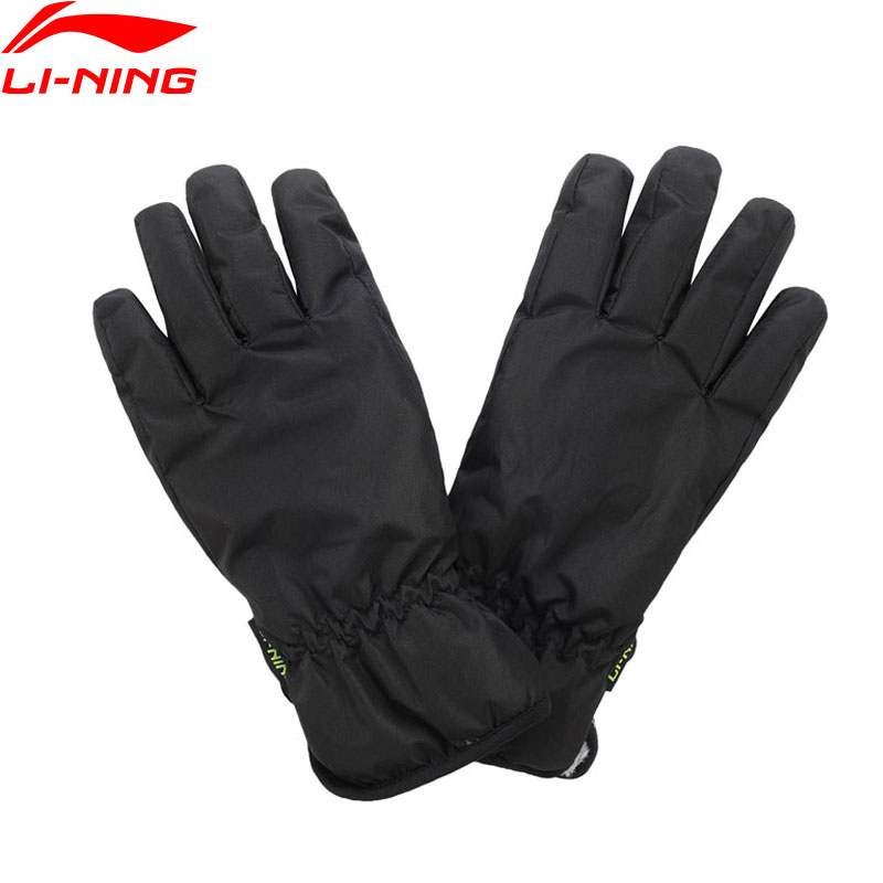 Li-Ning Men The Trend Warm Touchscreen Leisure Gloves 215/215 Winter Fleece Polyester LiNing Sports Gloves ASGP029 PSB056