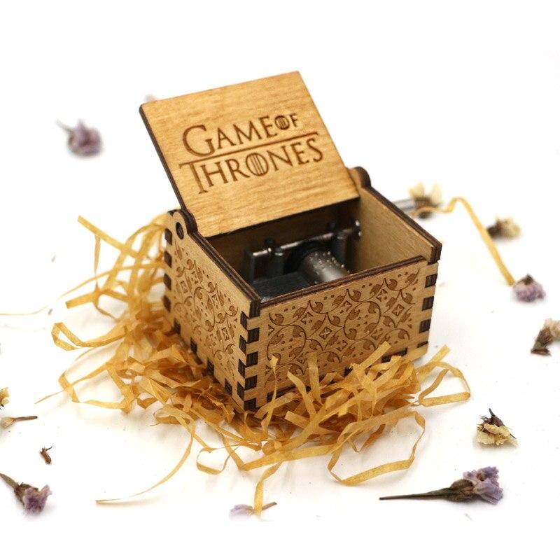 Старинная Музыкальная шкатулка с ручной резьбой по дереву в качестве подарка на день рождения и Рождество для вас и ваших друзей - Цвет: Game of thrones