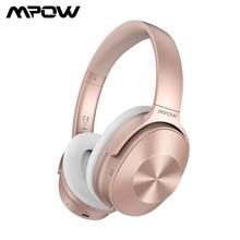 Mpow h12 블루투스 anc 헤드폰 무선 헤드폰 유선 헤드셋 마이크 hifi 사운드 깊은베이스 30 h 재생 시간 아이폰 11