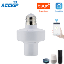 Tuya واي فاي اللاسلكية التحكم مصباح حامل E27 العالمي واي فاي ضوء مصباح لمبات محول Led لمبة رئيس قاعدة supporto lampada WiFi