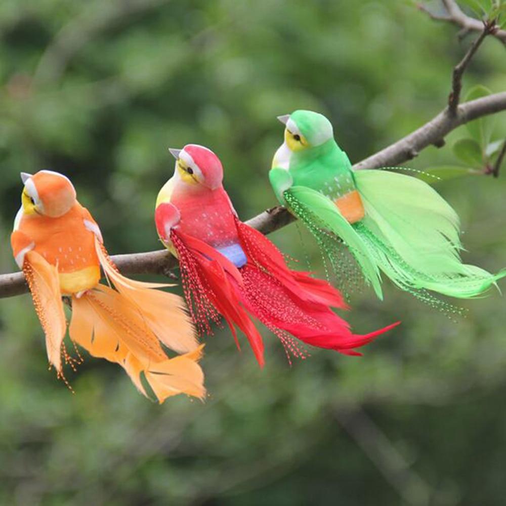 Cute Artificial Bird Foam Feather Colorful Miniature Tit Craft Birds DIY Artificial Sparrow Emulation Garden Decoration Model