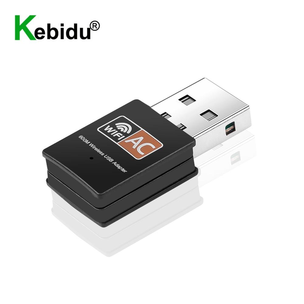 Kebidu Dual Band 2,4 ГГц + 5 ГГц USB Wifi адаптер 600 Мбит/с Wi-Fi приемник сетевой карты для Windows XP/Vista/7/8/8.1/10 Mac