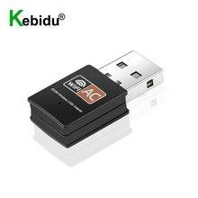 Kebidu dwuzakresowy 2.4Ghz + 5Ghz, Adapter USB Wifi 600 mb/s odbiornik Wifi klucz karta sieciowa dla systemu Windows XP/Vista/7/8/8.1/10 Mac