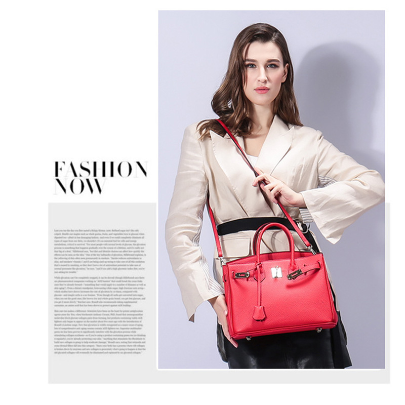 Женская сумка из натуральной кожи 2019, роскошные сумки через плечо, дизайнерский замок сумки через плечо, клатчи известных брендов, сумки - 3