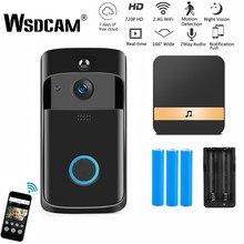 Wsdcam – Interphone vidéo connecté sans fil avec caméra, Wi-Fi, visiophone, sonnette, système de sécurité domestique, pour téléphone