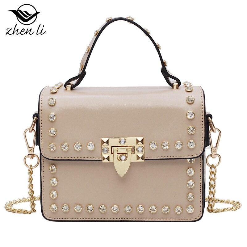 Zhenli Women's Bag 2019 Retro Cross Pu Girl'S Square Sling Bag Cross Border Supply of Goods Separate Station Bag