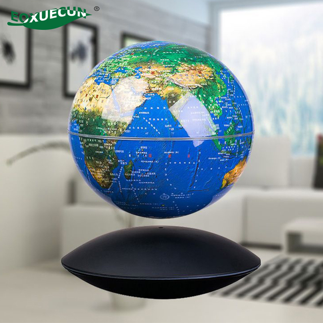 Globe World Map LED Magnetic Levitation Globe Night Lights Book Table Lamp Office Home Decoration Accessories for Living Room