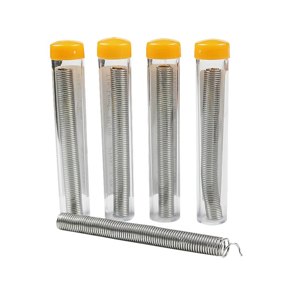 New Style 0.8mm 40/60 Tin/Resin Flux Rosin Core <font><b>Solder</b></font> Soldering Wire & Pen Tube Dispenser Tin Lead Core Soldering Wire Tool image
