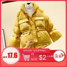 女性の冬のジャケットパーカー 2020 ファッション厚く暖かいランタントップスジャケットスリム固体甘いジャケット女性のための