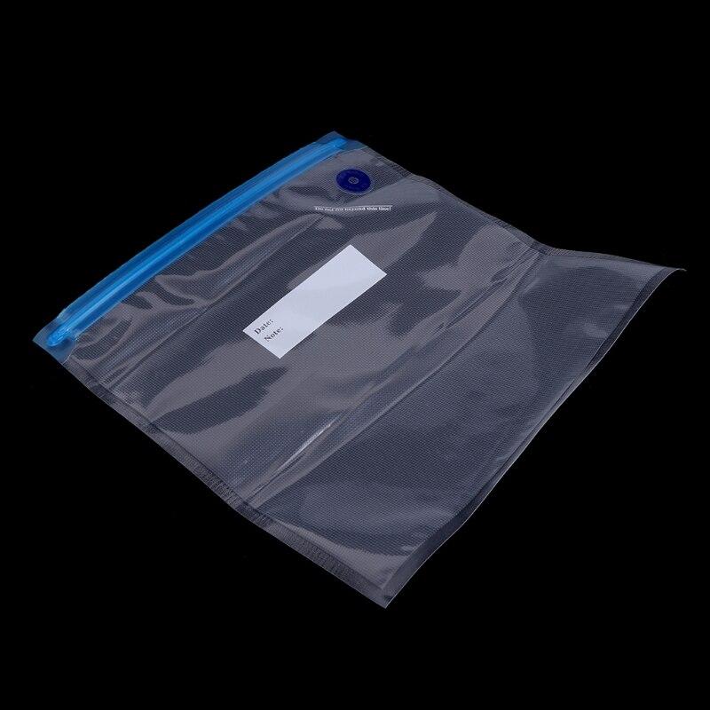 5pcs Kitchen Food Saver Vacuum Sealer Bag Home Use Reusable Storage Bags 26x28cm