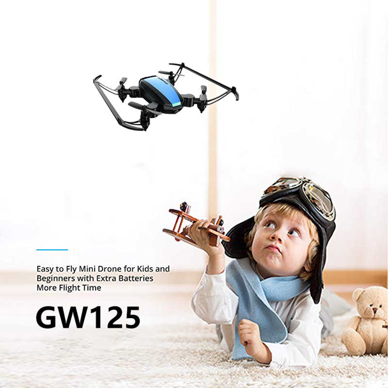 Mini Drone 6 Axis Gyro 2.4G 4CH Micro Drone RC Helikopter Tanpa Kepala Mode Pocket Quadcopter Drone Vs H36 E61