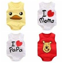 Cotton Jumpsuit Onesie Summer Clothing Bebes Toddler Newborn-Baby Baby-Girls Boys Ropa