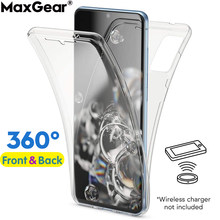 Capa completa transparente tpu 360, proteção para xiaomi mi 10 lite 8 se a1 a2 redmi note 9 s 8t capa de silicone macio à prova de choque, 9 s 7 6 pro k20 s2 8a 7a