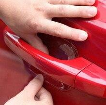 4 قطعة الفينيل فيلم سيارة مقبض الخدوش لسيارات BMW 3 سلسلة E46 E87 E90 E91 E92 E93 M3 AT MT الفضة الأسود