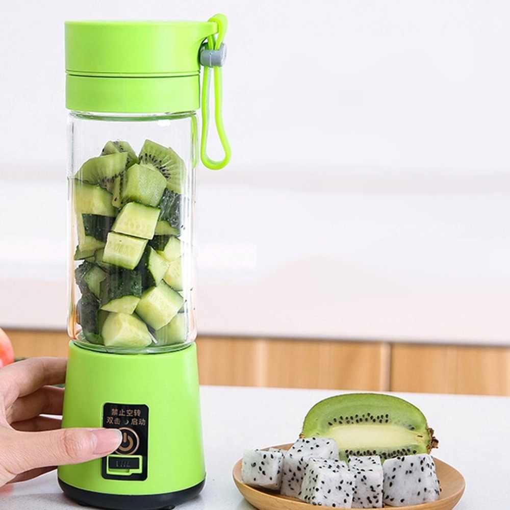 ポータブルサイズ USB 電気フルーツジューサーハンドヘルドスムージーメーカーブレンダー充電式ミニポータブルジュースカップ水