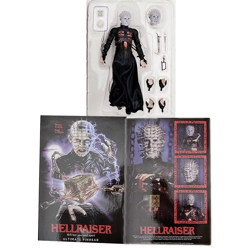 NECA Hellraiser Figure He'll Tear Your Soul Apart Ultimate Pinhead Action Figures Model Toy Gifts 7inch 18cm