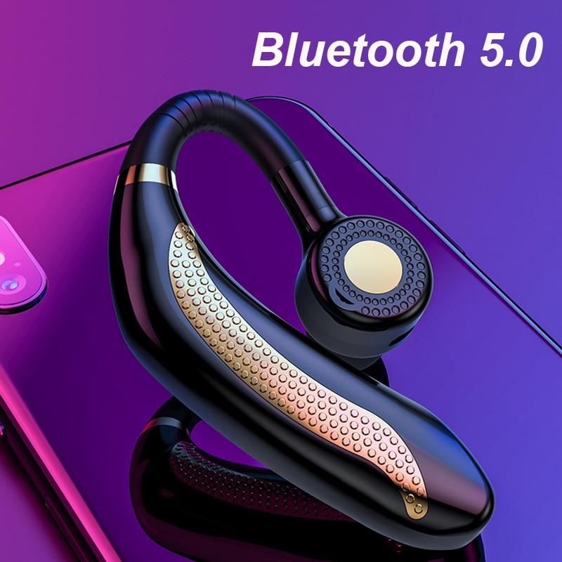 Wireless Single Car Headphones Portable Handsfree Bluetooth 5.0 Earphone HD Call Business Earbuds Sport Music Headset With Mic