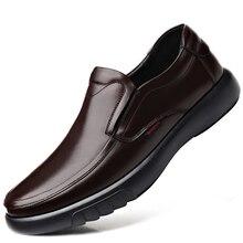 Г. Мужская обувь из натуральной кожи размеры 38-47, Кожаные Мягкие Нескользящие резиновые Лоферы обувь для мужчин, повседневная обувь из натуральной кожи