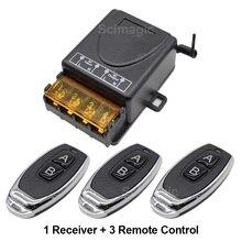 433 Mhz sans fil RF télécommande commutateur ca 220V 1CH 30A relais récepteur et 2 canaux 433 Mhz à distance pour pompe à eau